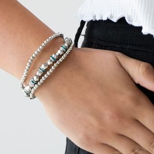 paparazzi Jewelry - Let There BEAM Light - Blue Bracelet Set